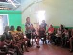 Teca co-facilitating a workshop