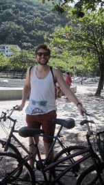 Robert is happy about biking!