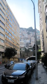 A Favela over looking Copacabana