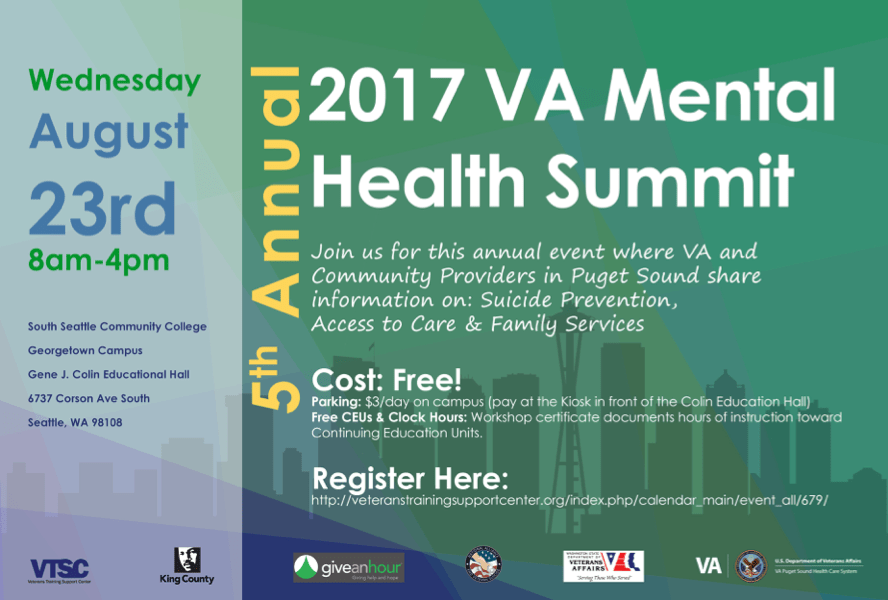Mental Health Summit Poster Give An Hour