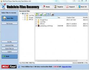 MiniTool Undelete File Recovery