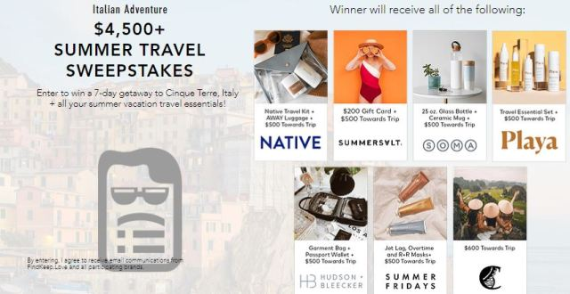 italy sweepstakes find keep love 4 500 and italian escape sweepstakes win 1804