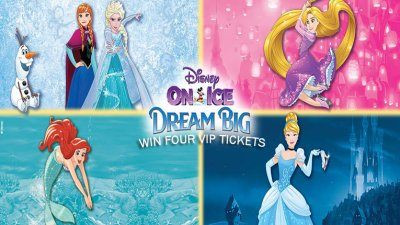 Enter to win four vip tickets to disney on ice friday m4hsunfo