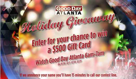 FOX 5 Atlanta Good Day Atlanta Holiday Giveaway