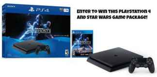 PlayStation 4 + Star Wars Game Bundle Giveaway