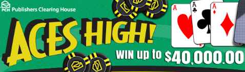 PCH Aces High Sweepstakes: Win $40,000 Cash