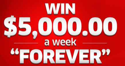 PCH Win $5,000 A Week Forever Sweepstakes (Giveaway No  11000)