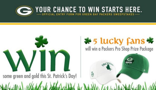 Green Bay Packers St. Patrick Day Sweepstakes