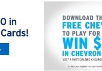 Chevron Unbeatable Milage Instant Win Game - Win Chevron Gift Card
