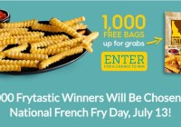 Grown In Idaho National French Fry Day Sweepstakes