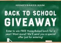 Honey Baked Ham Back to School Giveaway