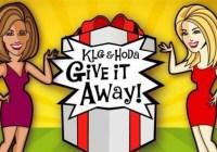 Today KLG And Hoda Give It Away Sweepstakes