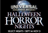 Universal Orlando Resort Halloween Horror Nights Sweepstakes