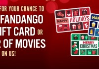 Fandango Holiday Daily Gift Card Giveaway & Movie Sweepstakes