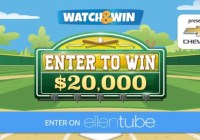 Ellen DeGeneres Chevy Watch And Win Giveaway