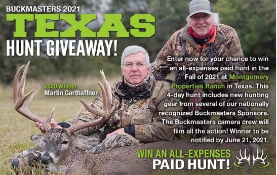 Buckmasters Texas Hunt Giveaway