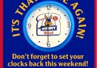 Fall Back With Bunny Clock Giveaway