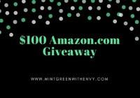 $100 Amazon.com EGift Card Giveaway