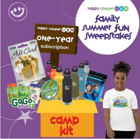 Camp X Happy Camper Family Summer Fun Sweepstakes