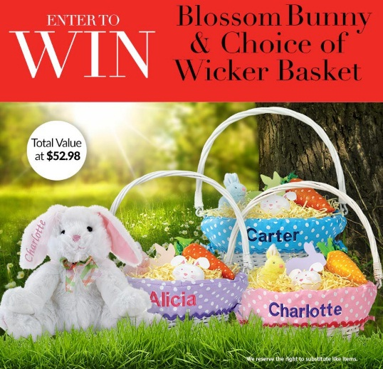 Current Media Group Lillian Vernon Blossom Bunny And Wicker Basket Giveaway