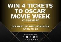 Cinemark Oscar Movie Week Sweepstakes