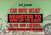 The 92Q And Jimmy The Boxer Car Note Sweepstakes