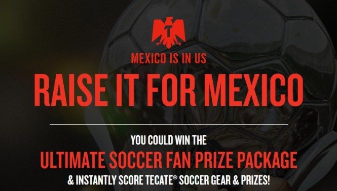 Tecate Futbol Instant Win Game Sweepstakes