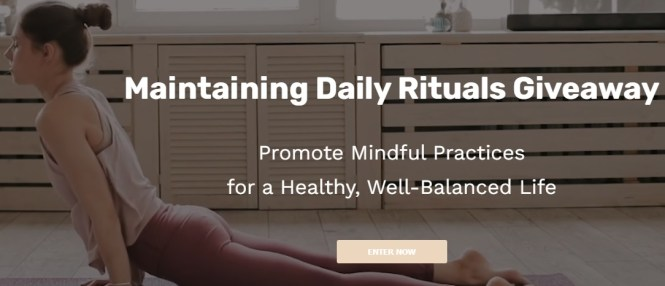 Pantry Food Maintaining Daily Rituals Giveaway