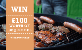 Win £100 worth of BBQ goods E:12/08 #SousChef