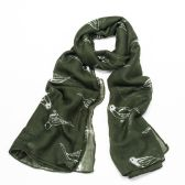 Win a Dark Green Finch Print #Fashion Scarf E:04/10