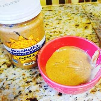 Maranatha Almond Butter warmed up