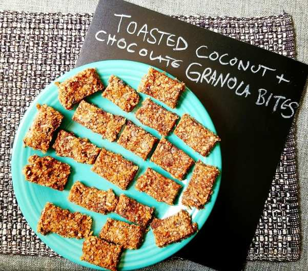 Toasted Coconut Chocolate Chia Granola Bars