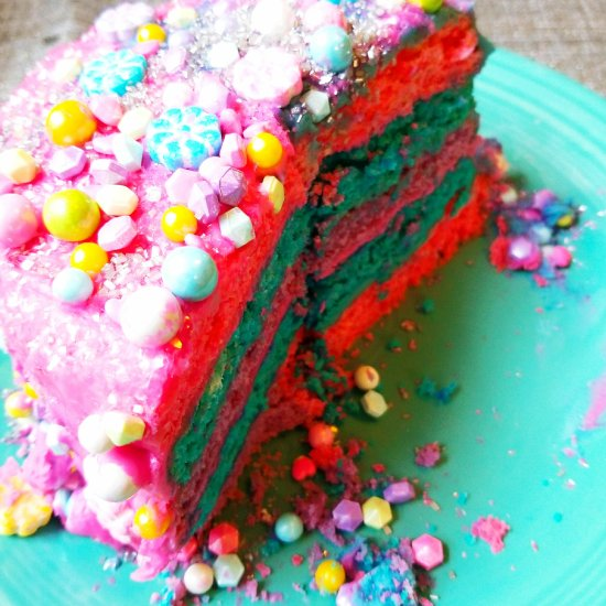 Cotton Candy Cake by Give It A Whirl Girl
