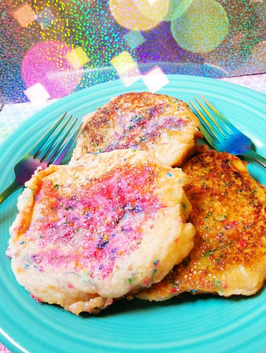 Cotton Candy Cloud Protein Pancakes - Gluten-Free, Egg-Free