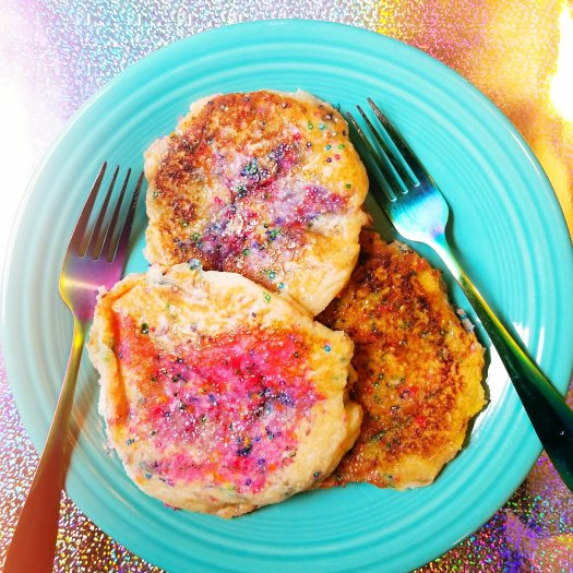 Gluten-Free, Egg-Free Cotton Candy Cloud Protein Pancakes