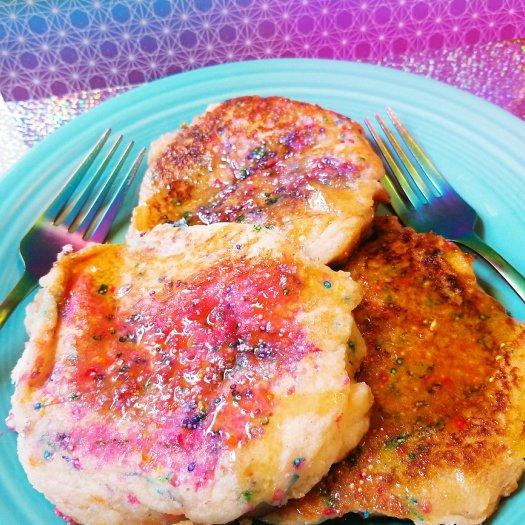 Gluten-Free, Egg-Free Cotton Candy Cloud Pancakes
