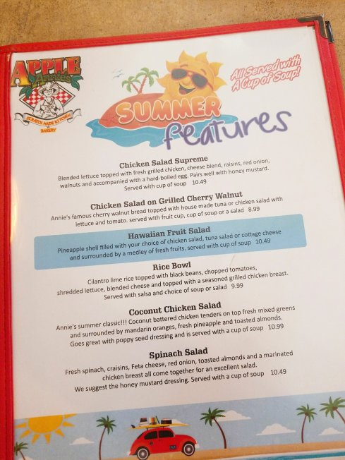 Apple Annie's summer specials