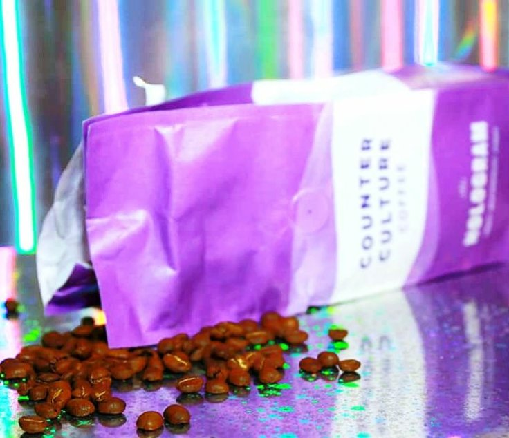 Beans! Beans! Beans! Back of the Counter Culture Coffee Hologram bag
