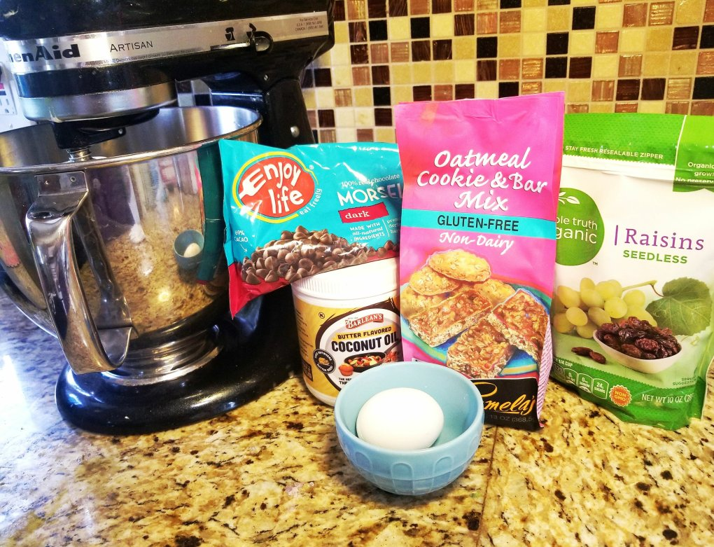 Ingredients used for my gluten-free oatmeal cookies