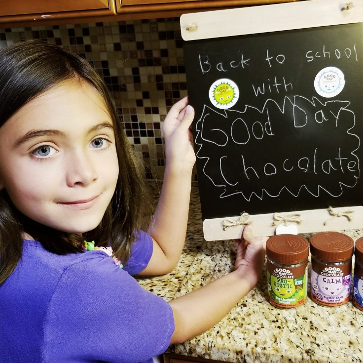 Chloe With Good Day Chocolate For Kids - Back To School