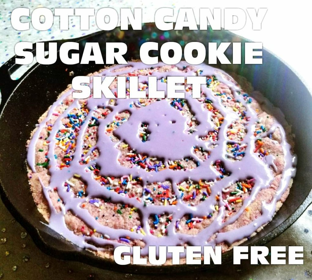 Cotton Candy Sugar Cookie Skillet w/ Pamela's Sugar Cookie Mix (Gluten-Free) GIVE IT A WHIRL GIRL