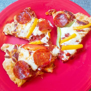 Gluten free pepperoni pizza