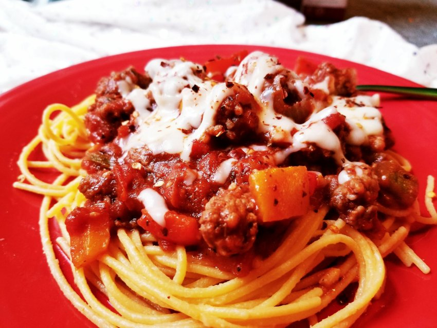 20180909 16512110884476281 - Ancient Harvest - Tri-Color Pepper, Ground Beef, & Italian Sausage Spaghetti Sauce RECIPE - Tried It Out Tuesday