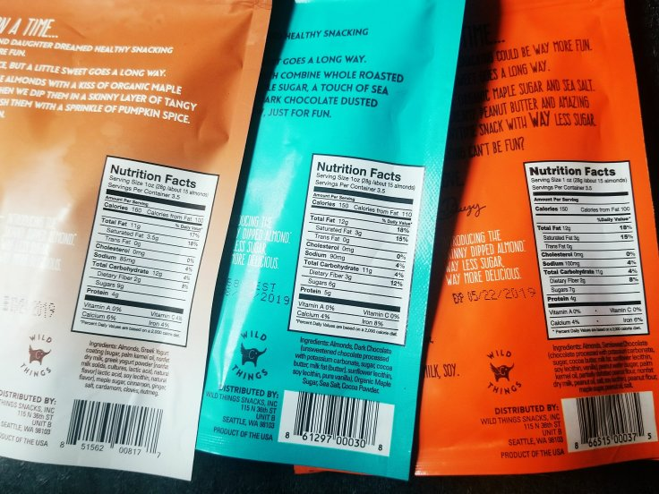 Skinny Dipped Almonds nutrition facts