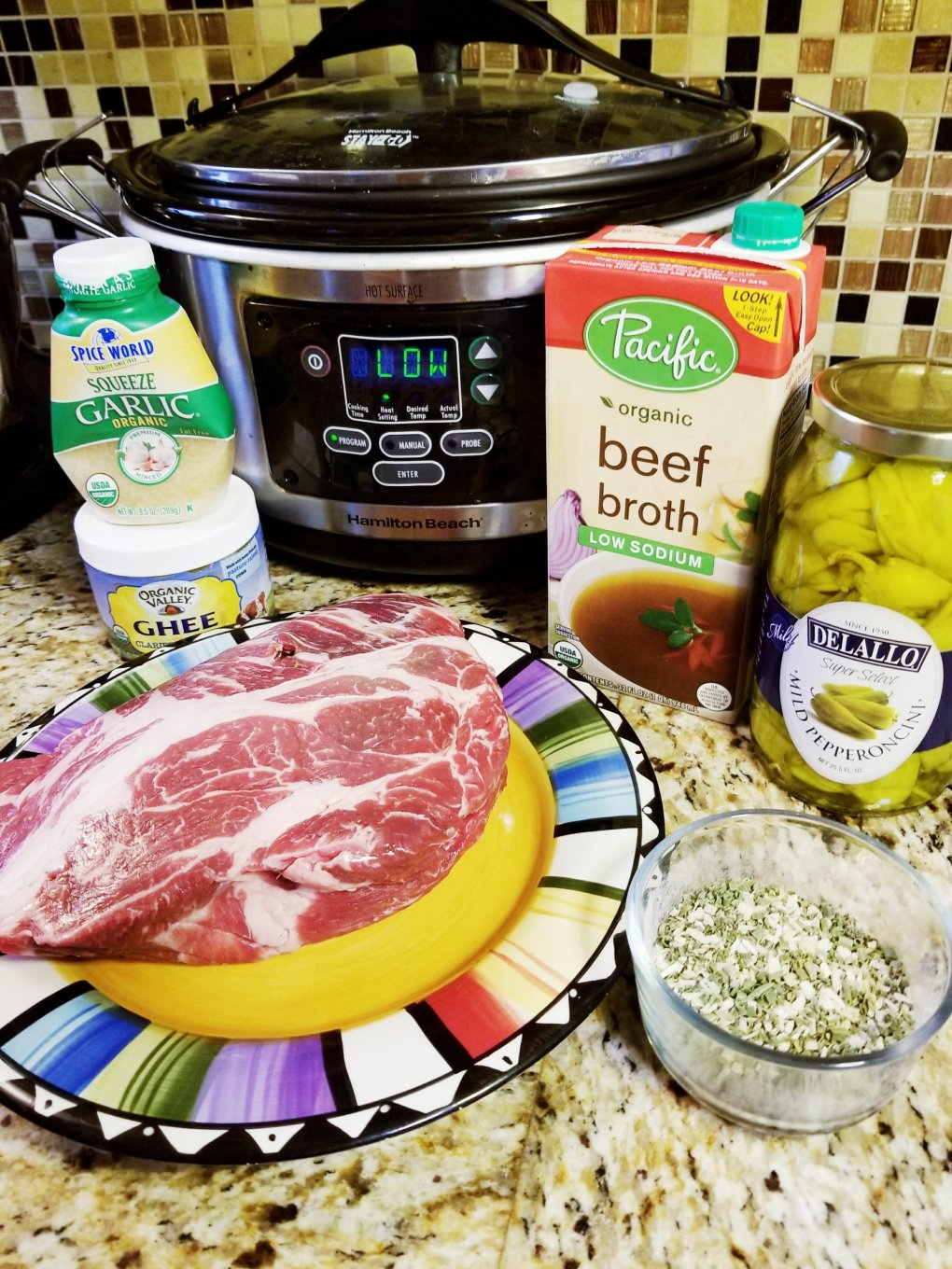 Ingredients for Paleo Mississippi Pot Roast
