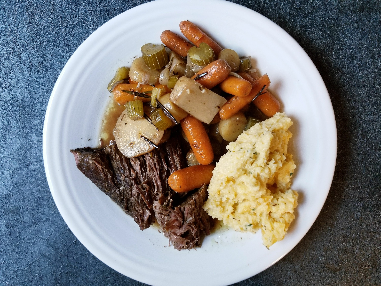 Paleo Root Vegetable Pot Roast With Rutabaga Mash and Turnips