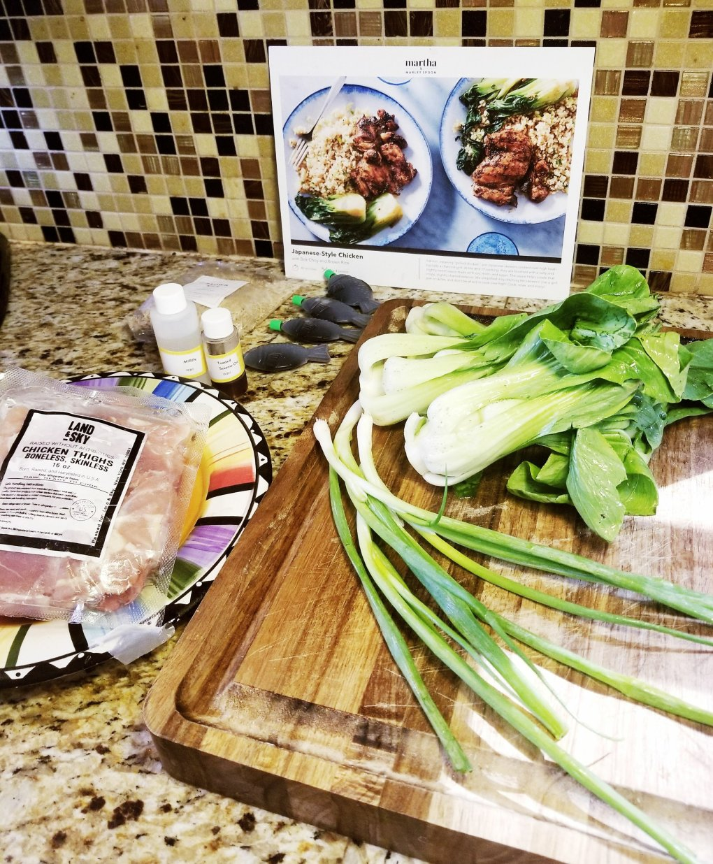 Ingredients for Marley Spoon Japanese Style Chicken w/ Boy Choy and Brown Rice