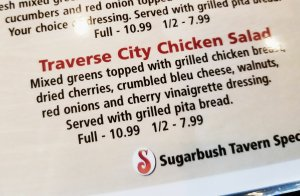 Traverse City Chicken Salad at Sugarbush Tavern