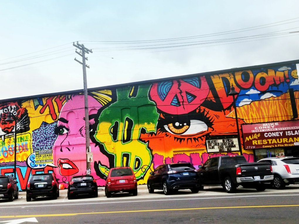 There are beautiful murals all over the Eastern Market area