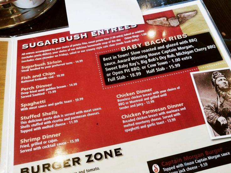 Sugarbush Tavern Entrees